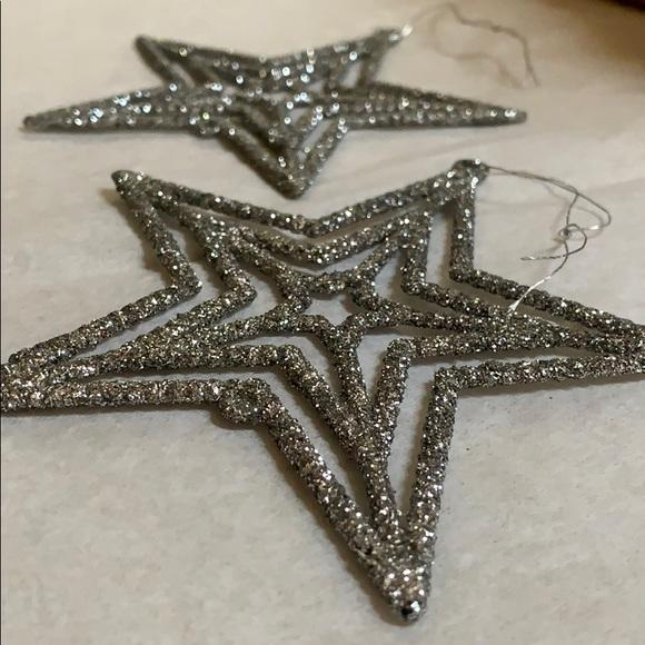 None Holiday 2 Glitter Star Shaped Christmas Tree Ornaments Poshmark